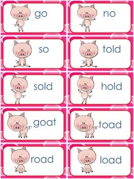 Word Sort with Long /o/ (o,oa,ow)