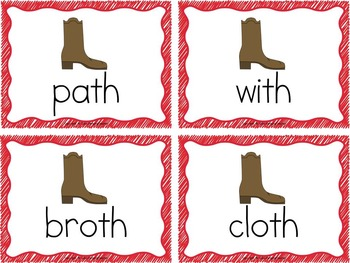 Word Sort - words with th - Story Boots for Beth
