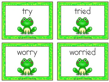 Word Sort y and ied Days with Frog and Toad