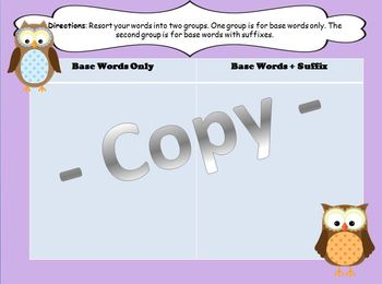 Word Sort y and ly
