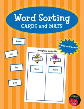 Word Sorting Cards and Mats: Homophones