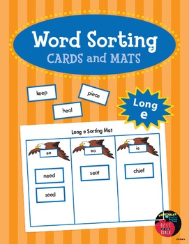 Word Sorting Cards and Mats: Long e