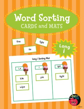 Word Sorting Cards and Mats: Long i