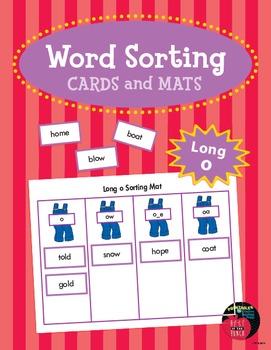 Word Sorting Cards and Mats: Long o