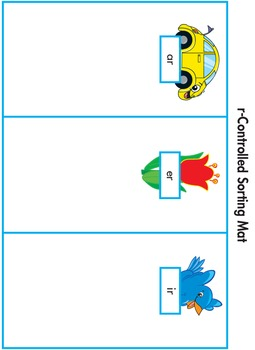 Word Sorting Cards and Mats: R-Controlled Vowels