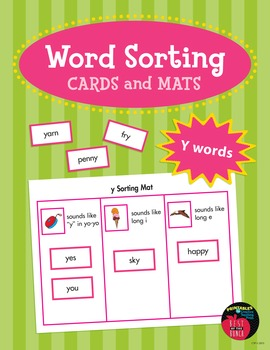 Word Sorting Cards and Mats: Y Sounds
