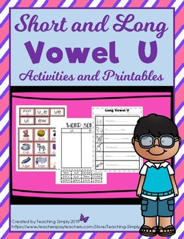 Vowels - Picture and Word Sorting Long u - Struggling Readers - Phonics - RTI