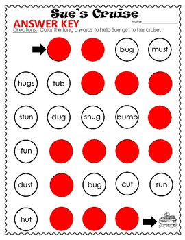 Long Vowel u  Picture and Word Sorting Activities