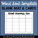Word Sorting Mat & Card (Template)