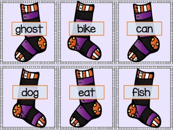 Halloween Word Sorts (1, 2 & 3 Syllables)