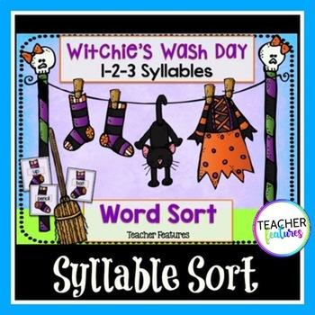 Halloween Word Sorts (1, 2 & 3 Syllables)