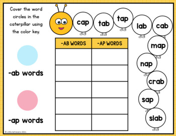 CVC Worksheets - Word Sort