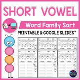 Short Vowel Worksheets - CVC Word Sort