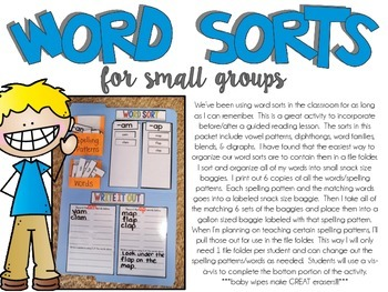 Word Sorts (A Guided Reading Activity)