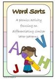 Word Sorts - A Phonics Activity