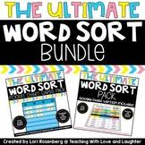 Word Sorts Activity Bundle First Grade {Pocket Chart Cards