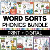 WORD SORTS BUNDLE for Phonics and Word Work