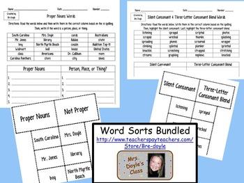 Word Sorts Bundled