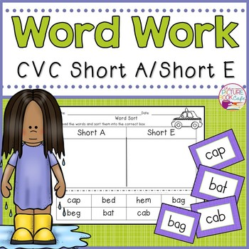 Word Sorts-CVC Words-Short A/ Short E