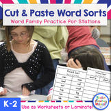 Word Family Word Sorts - Cut 'n Paste and More