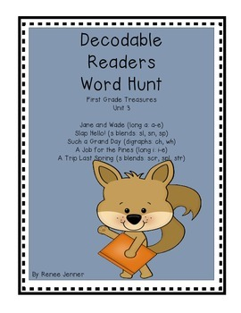 Decodable Reader Word Hunt First Grade Treasures Unit 3