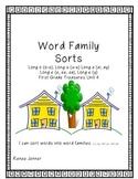 Word Sorts-First Grade Treasures Unit 4
