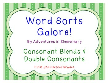 Word Sorts Galore: Consonant Blends and Double Consonants