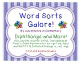Word Sorts Galore: Diphthongs, 2 Sounds of Y, Silent Letters, Hard & Soft G/C