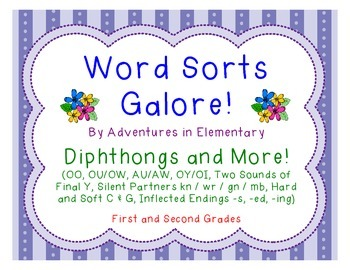 Word Sorts Galore: Diphthongs, 2 Sounds of Y, Silent Lette