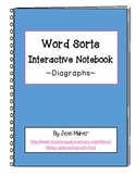 Word Sorts Interactive Notebook Templates: Digraphs ch, sh