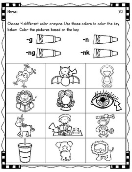 Word Sorts Letter Name Feature E Consonant Blends & Digraphs