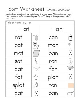 Word Sorts - Letter Name and Within Word
