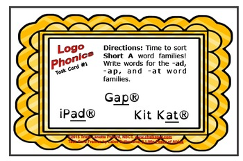 Word Sorts: Logo Phonics with Short Vowels