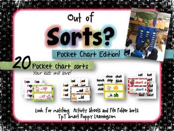 "Word Sorts  ""Out of Sorts?"" Pocket Chart Pals"