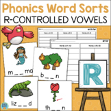 R Controlled Vowels Bossy R WORD SORTS