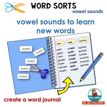 Word Sorts Set One - Vowel Combinations and Word Families-Daily Word Work