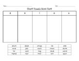 Word Sorts Unit 1