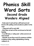 Word Sorts Units 1-6 Second Grade Wonders Aligned