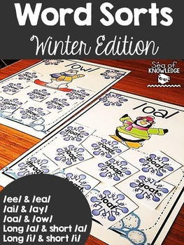 Word Sorts Winter Edition