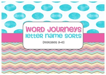 Word Sorts - Word Journeys Super Pack - Sorts A to E