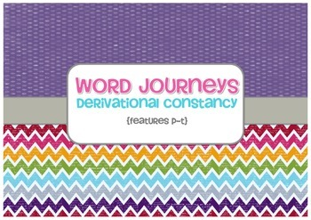 Word Sorts - Word Journeys Super Pack - Sorts P to T