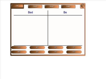 Word Sorts and Activities for Open Syllable Spelling Patterns