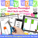 Digital Word Sorts & Word Work Activities 3rd 4th & 5th Grade Digital Classroom