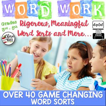 Digital Word Sorts & Word Work Activities 3rd 4th & 5th Grade Digital Classroom
