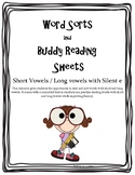 Word Sorts and Buddy Reading with Short Vowels and Long Vowels