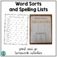 Word Sorts and Spelling Lists