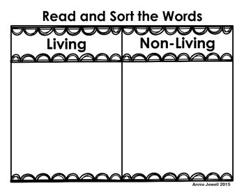 Phonetic Word Sorts by Category for Kindergarten and 1st Grade