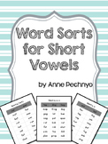 Word Sorts for Short Vowels - No prep!