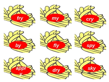 Word Sorts for -ie, -igh. and -y