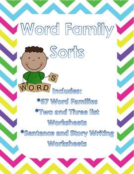 Word Sorts using Word Families!